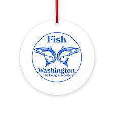 Fish Washington the Evergreen State Round Ornament