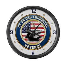 CV-59 USS Forrestal Large Wall Clock