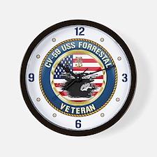 CV-59 USS Forrestal Wall Clock
