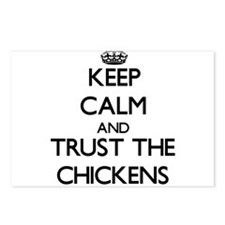 Keep calm and Trust the Chickens Postcards (Packag
