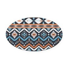 Native Pattern Oval Car Magnet