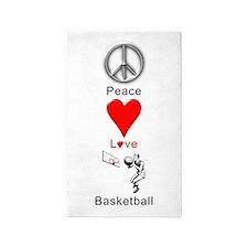 Peace Love Basketball 3'x5' Area Rug