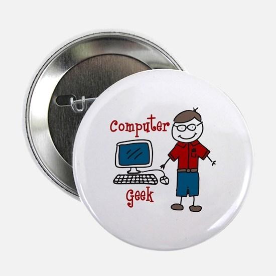 """Computer Geek 2.25"""" Button"""