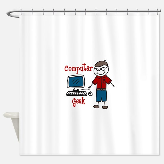 Computer Geek Shower Curtain