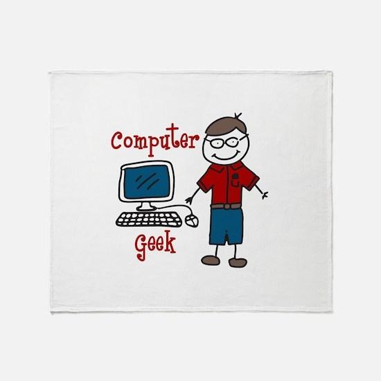 Computer Geek Throw Blanket