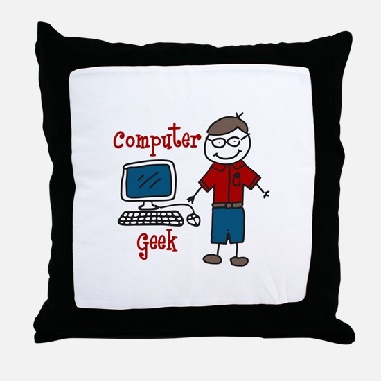 Computer Geek Throw Pillow