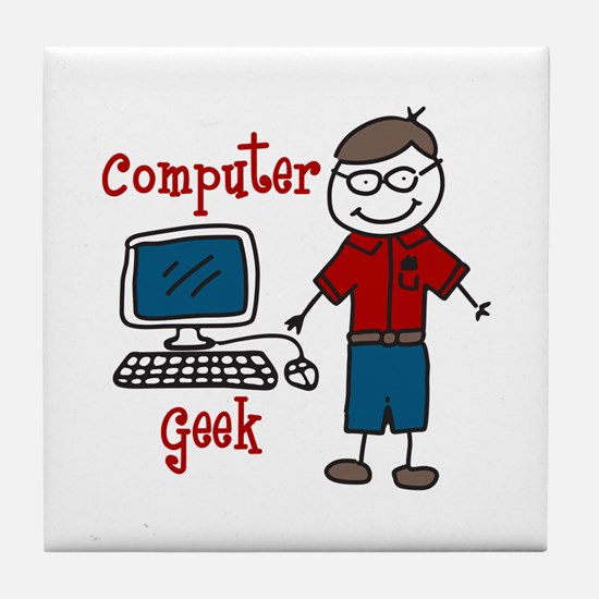 Computer Geek Tile Coaster