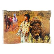 Buffalo Woman Pillow Case