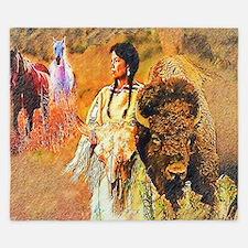 Buffalo Woman King Duvet