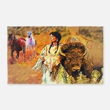 Buffalo Woman 3'x5' Area Rug