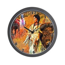 Buffalo Woman Wall Clock