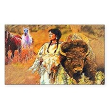 Buffalo Woman Decal