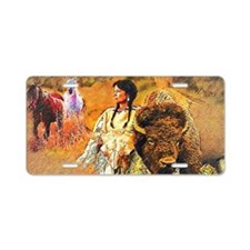 Buffalo Woman Aluminum License Plate