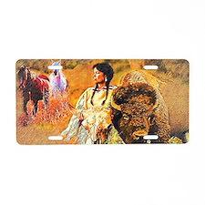 Buffalo Woman Aluminum License Plate
