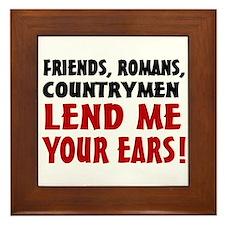 Lend Me Your Ears Framed Tile