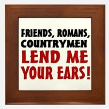 Lend Me Your Ears Framed Tile