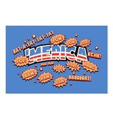 Bam! 'Merica Pow! Postcards (Package of 8)