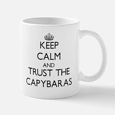 Keep calm and Trust the Capybaras Mugs