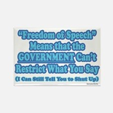 Freedom of Speech Rectangle Magnet (10 pack)