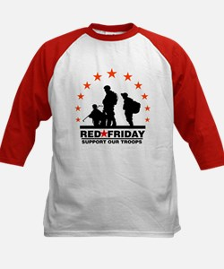 3 Troops/Red Friday Kids Baseball Jersey