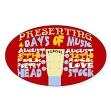 Sixties Music Festival Oval Decal