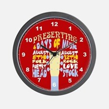 Sixties Music Festival Wall Clock