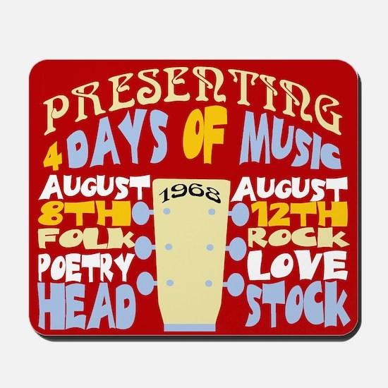 Sixties Music Festival Mousepad