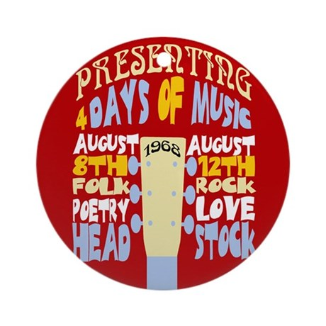 Sixties Music Festival Ornament (Round)