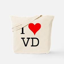 I Love VD Tote Bag