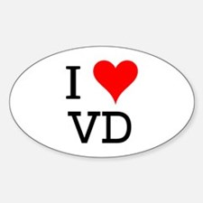 I Love VD Oval Decal