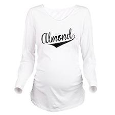 Almond, Retro, Long Sleeve Maternity T-Shirt