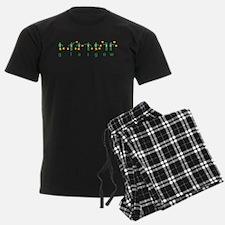 Glasgows green and white semaphore Pajamas
