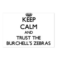 Keep calm and Trust the Burchells Zebras Postcards