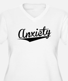 Anxiety, Retro, Plus Size T-Shirt