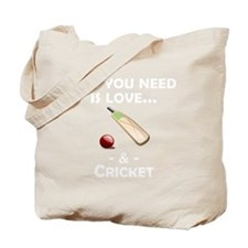 Love And Cricket Tote Bag