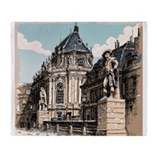 Vintage Hand Drawn View of Versailles Chapel Throw