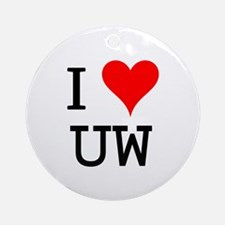 I Love UW Ornament (Round)