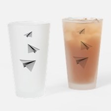 Origami Paper Plane Drinking Glass