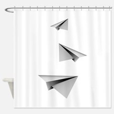 Origami Paper Plane Shower Curtain