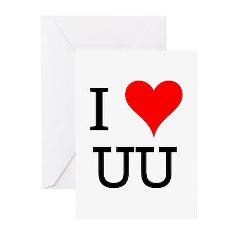 I Love UU Greeting Cards (Pk of 10)