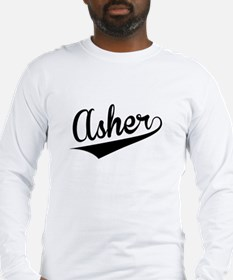 Asher, Retro, Long Sleeve T-Shirt