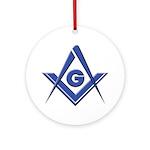 Modern Blue Lodge S&C Ornament (Round)
