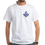 Modern Blue Lodge S&C White T-Shirt