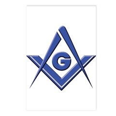 Modern Blue Lodge S&C Postcards (Package of 8)