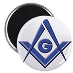 Modern Blue Lodge S&C Magnet