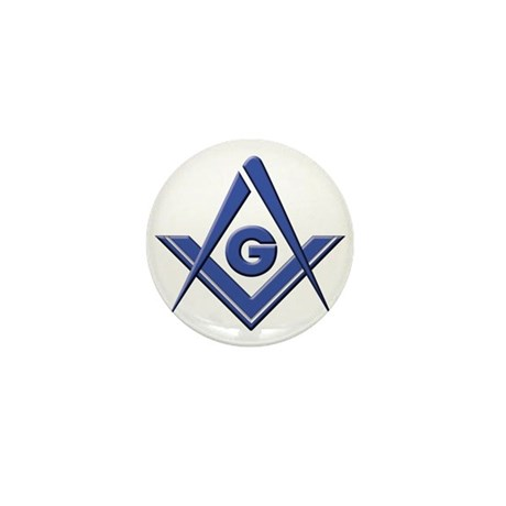 Modern Blue Lodge S&C Mini Button (10 pack)