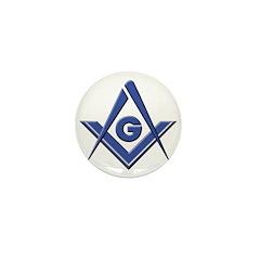 Modern Blue Lodge S&C Mini Button