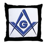 Modern Blue Lodge S&C Throw Pillow