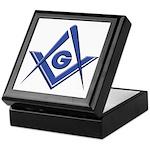 Modern Blue Lodge S&C Keepsake Box