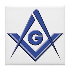 Modern Blue Lodge S&C Tile Coaster